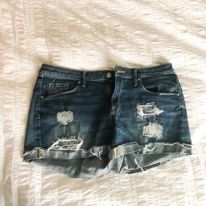 Mossimo Denim Distressed Jean Shorts